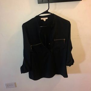 Forever 21 black and gold blouse